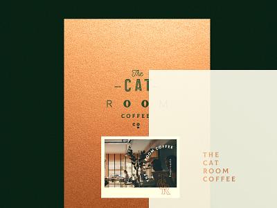 The Cat Room. menu editorial coffeeshop shop coffee ui ux illustration typography type design branding vector brand logo