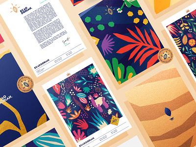 Ecaodorian Brand Elements. art animal ecuador cocoa chocolate illustration typography type design branding vector brand logo