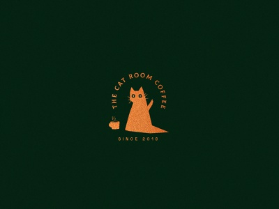 The Cat Room illustration graphic design typography type design vector branding brand logo