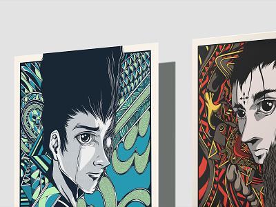 Poster Design HXH. manga mockup drawing art anime typography illustration type design branding vector brand logo