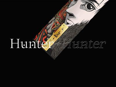 Poster Pack Hunter X Hunter craft handmade manga anime typography illustration type design branding vector brand logo