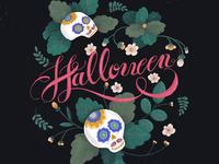 Halloween lettering art