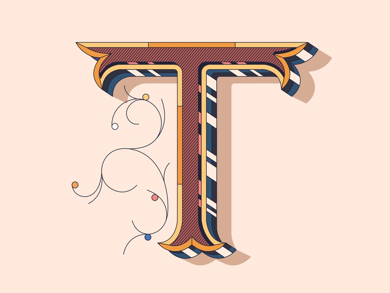 T flat icono vector 36daysoftype illustration character packagingdesign 36 days of type letter lettering icon typo graphic type app logo branding design typography brand