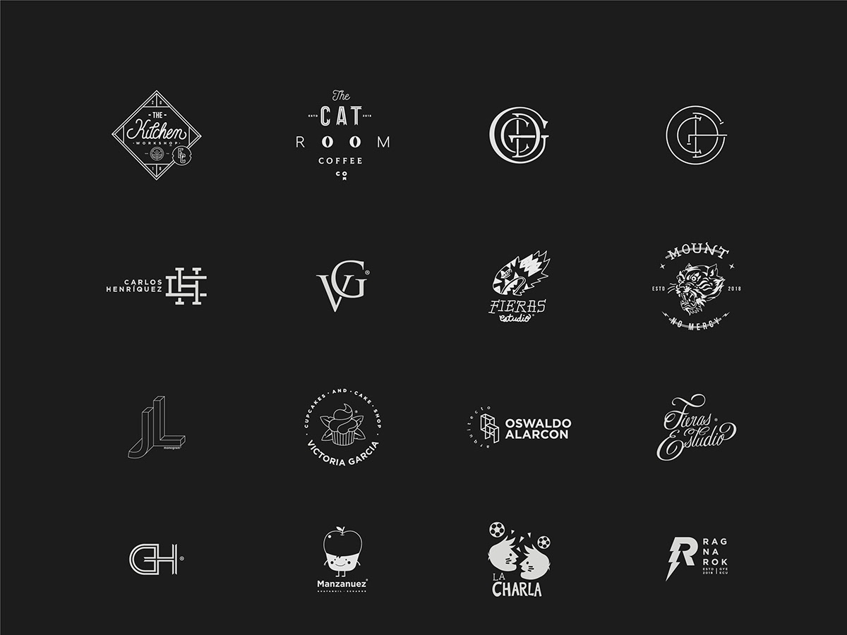 Logos 2019 icon icono graphic illustration typography type vector design branding brand logo