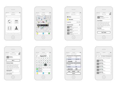 Older iOS App Wireframes