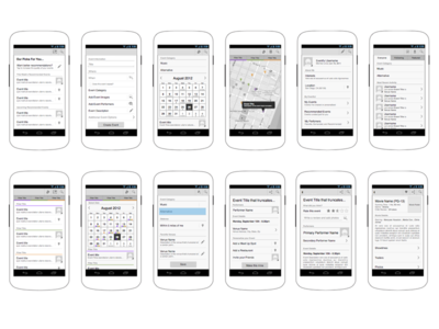 Android App Wireframes