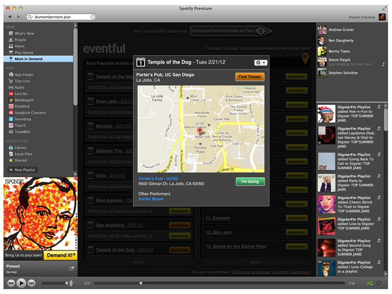 Spotify App spotify ui wireframe