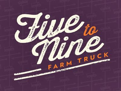 5-9 Logo logo farmers market farm food truck thirsty rough