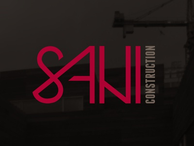 Sani Construction construction logo structural typography