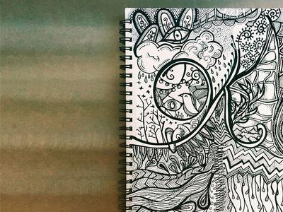 Ok black and white sketchbook sharpie illustration sketch