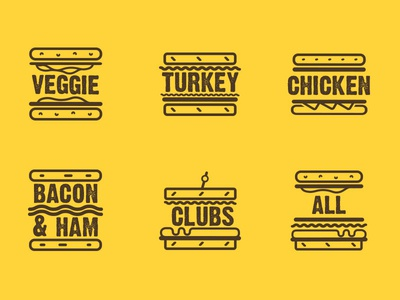 Sandwich Filter Icons fast food deli illustration food filters icons sandwich