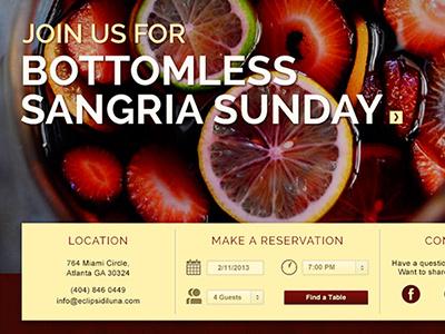 Restaurant Website website layout tapas food