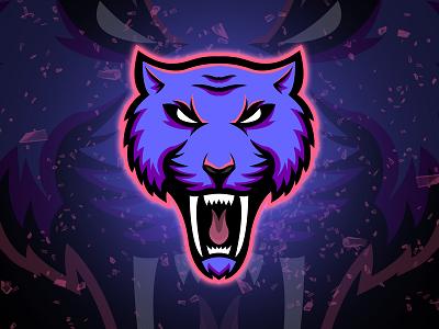 Sabertooth Tiger Mascot Logo