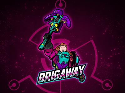 Brigitte Mascot Logo