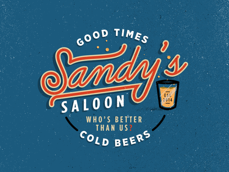 Sandy's Saloon saloon mancave bar sandys beer cold beers good times