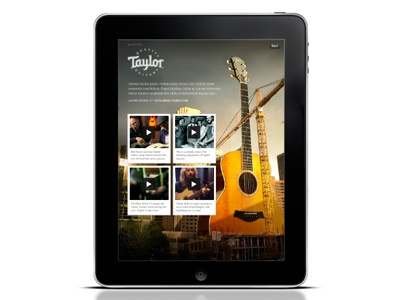 Taylor Guitars Sponsor Section ipad