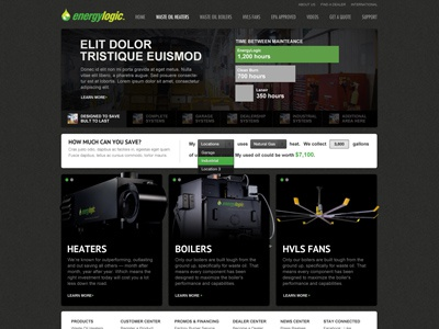 EnergyLogic - Homepage Progress centresource energylogic dark grey green