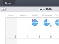 Calendar History View for Medication App