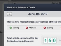 Detail Day View for Medication App