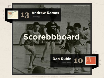 Scorebbboard is Live api web app
