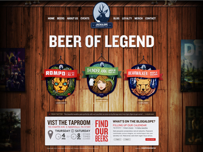 Jackalope Brewery - Home Page  wood beer jackalope homepage