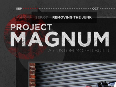 Project Magnum - Header/Logo/Tooltip logo red black grey circle moped