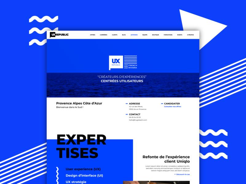 French Riviera - Final proposal ui web mockup ui design design