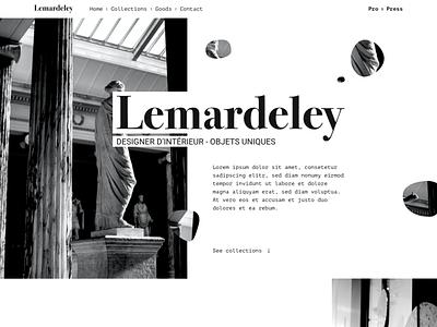 Lemardeley client - Some ideas ui web mockup ui design design