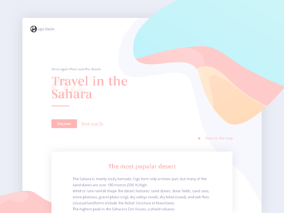 Sahara pastel sahara web design post blog ui design