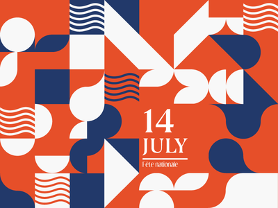 14 Juillet bleu blanc rouge fête nationale pattern france