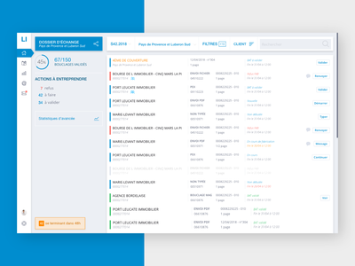 Logic-Immo Administration Dashboards - Some peeks ui deisgn ux design classifieds dashboard administration blue