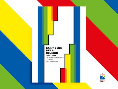 I was here - Saint-Denis de la Réunion reunion island poster france design
