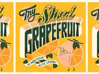 Try Sliced Grapefruit grapefruit vintage lettering
