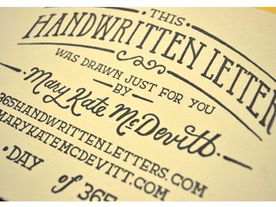 Handwrittenlettersstamp 01