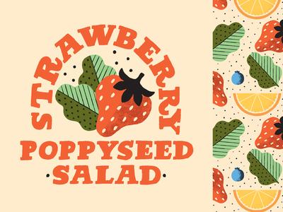 Panera Strawberry Poppyseed Salad illustration salad strawberry