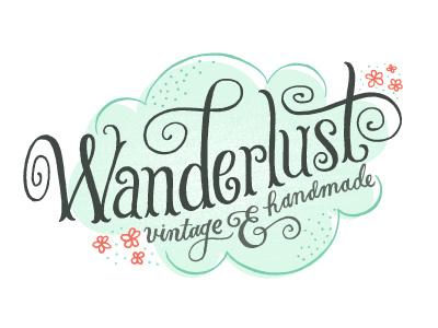 Wanderlust Logo logo lettering typography wanderlust