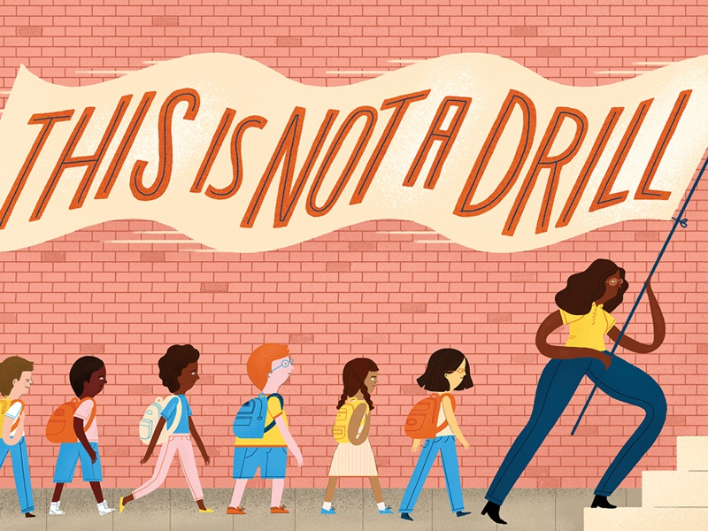 This is Not a Drill school illustration lettering