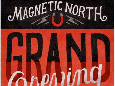 Magnetic north flyer dribbble