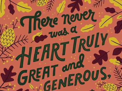 Thank You Card hand lettering illustrations lettering thank you card thank you thanksgiving fall leaves november