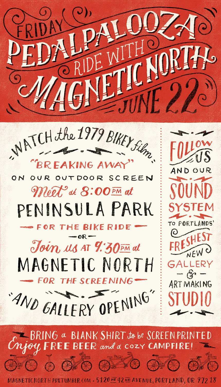 Magnetic north pedalpaloozaposter blog 02