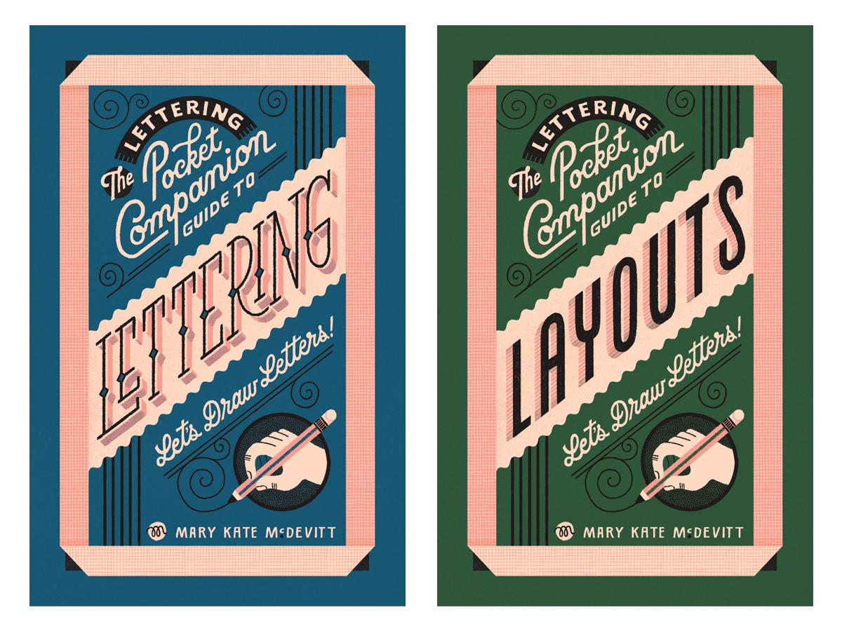 Lettering Pocket Companion Guides lettering artist booklet design cover design booklet tutorial lettering