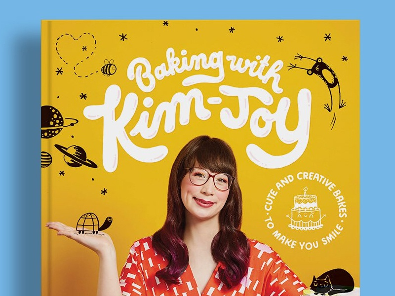 Baking With Kim-Joy Cover Lettering baking title book lettering