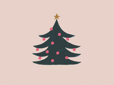 Meowy Christmas cat christmas tree animation lettering