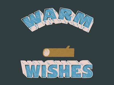 Warm Wishes illustration animation gif animation art animation design marshmallow lettering animation