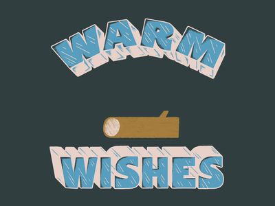 Warm Wishes illustration animation gif animation art animation design marshmallow lettering animation