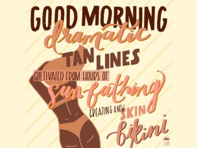 Dramatic Tan Lines