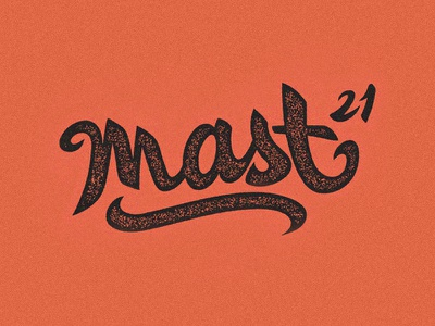 mast21 black orange handwriten typography lettering