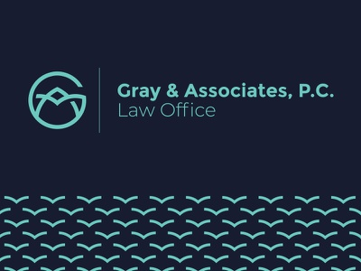 Gray & Associates Law Office monogram office law justice scale book a g