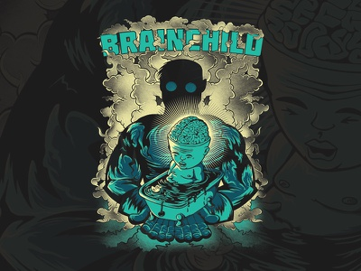Brainchild t-shirt illustration t-shirt graphic  design sci-fi illustration shirtdesign brain brainchild