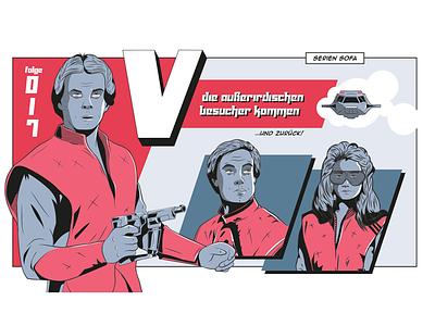 Poster for podcast Episode/Series vintage sketch tv tv-series series podcast illustration
